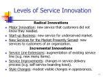 levels of service innovation