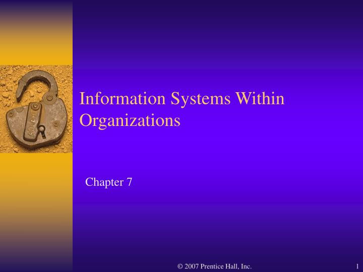 information systems within organizations n.