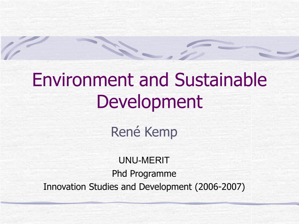 environment and sustainable development l.