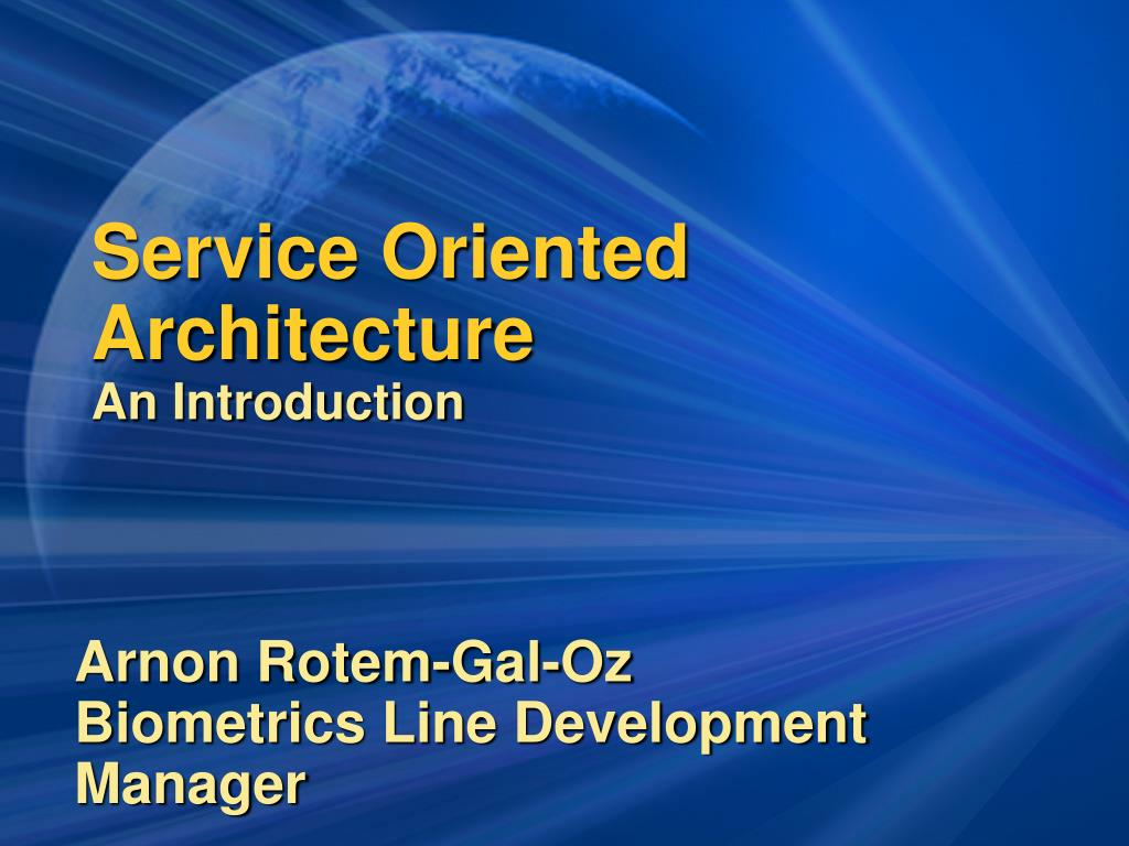 service oriented architecture an introduction l.