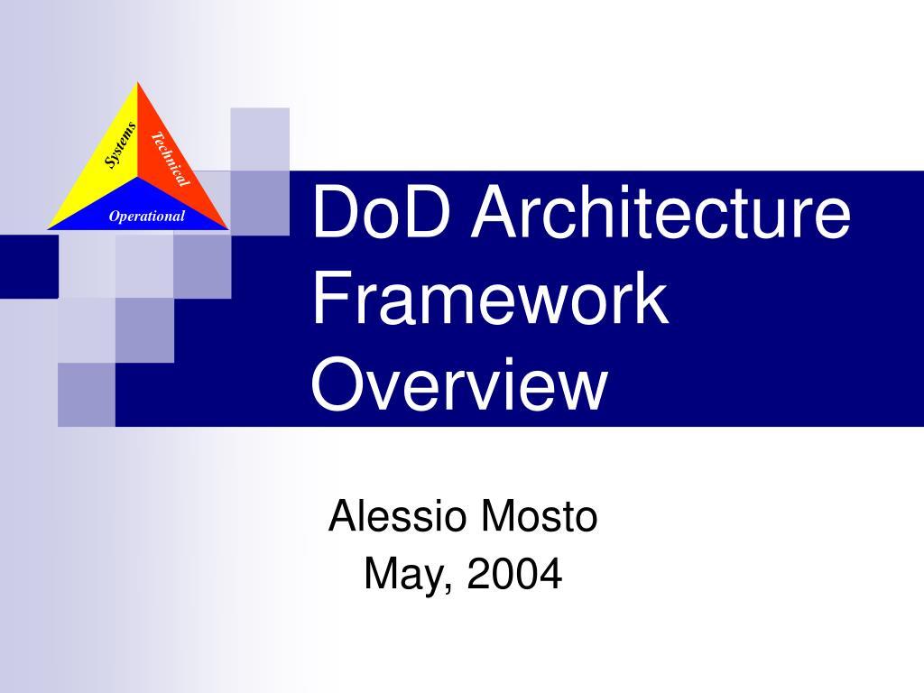 dod architecture framework overview l.