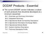 dodaf products essential