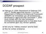 dodaf prospect