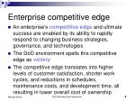 enterprise competitive edge