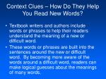 context clues how do they help you read new words