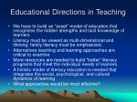 educational directions in teaching