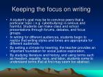 keeping the focus on writing41