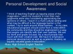 personal development and social awareness