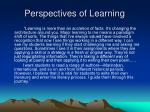 perspectives of learning