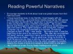 reading powerful narratives
