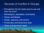 sources of conflict in groups