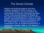 the social climate
