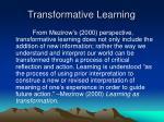 transformative learning64