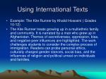 using international texts