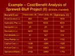 example cost benefit analysis of sprewell bluff project ii 1000s rounded