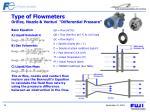 type of flowmeters orifice nozzle venturi differential pressure15