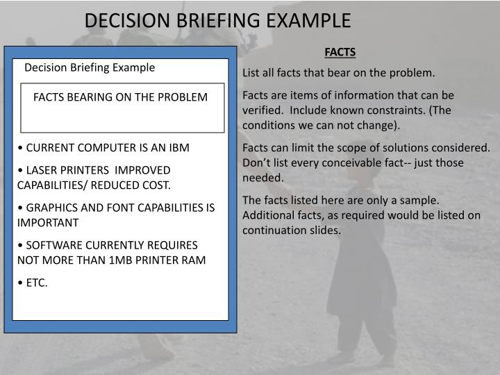 Ppt The Decision Briefing Powerpoint Presentation Id217999