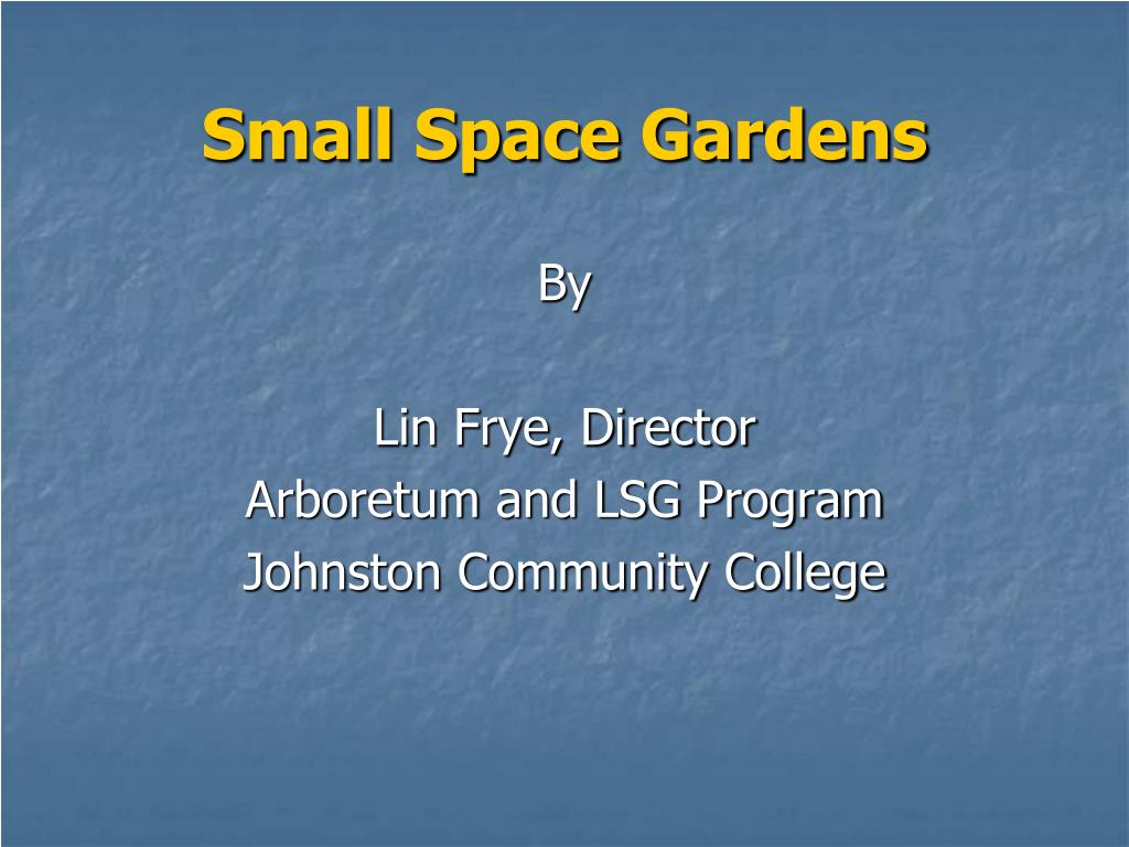 small space gardens l.