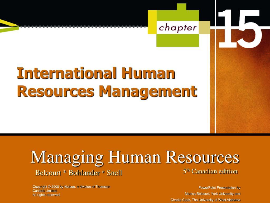 international human resources management l.