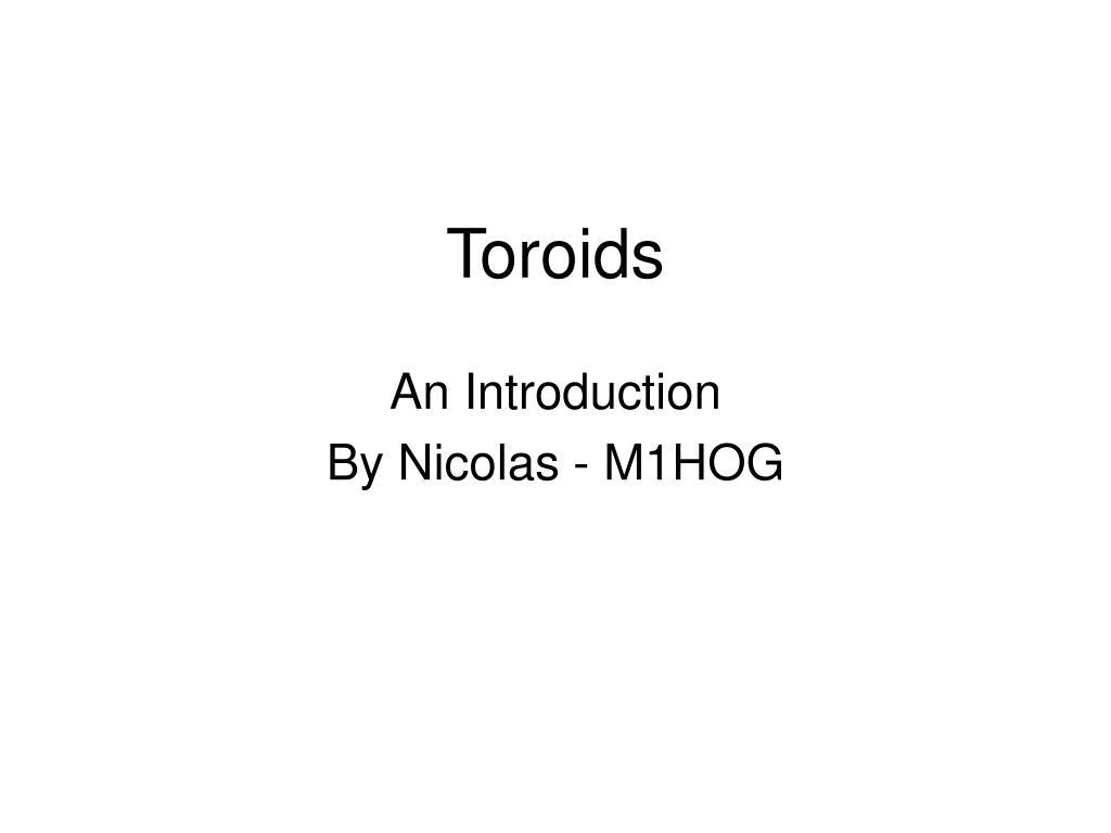 toroids l.