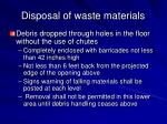 disposal of waste materials42