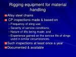 rigging equipment for material handling11