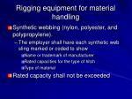 rigging equipment for material handling21