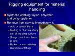 rigging equipment for material handling22