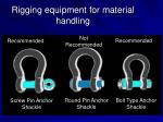 rigging equipment for material handling24