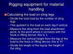 rigging equipment for material handling34