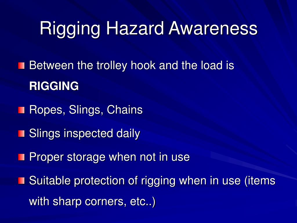 rigging hazard awareness l.