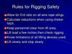 rules for rigging safety4
