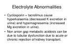 electrolyte abnormalities
