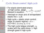 cyclic strain control high cycle