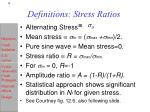 definitions stress ratios