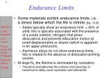 endurance limits