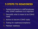 5 steps to readiness