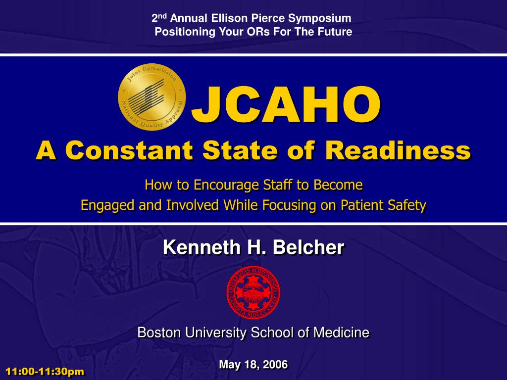 jcaho a constant state of readiness l.
