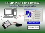 component overview reading keys program key