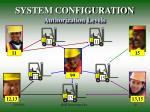 system configuration authorization levels