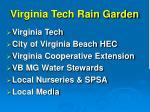 virginia tech rain garden