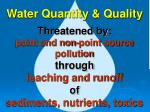 water quantity quality
