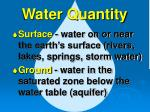 water quantity5