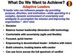 what do we want to achieve adaptive leaders