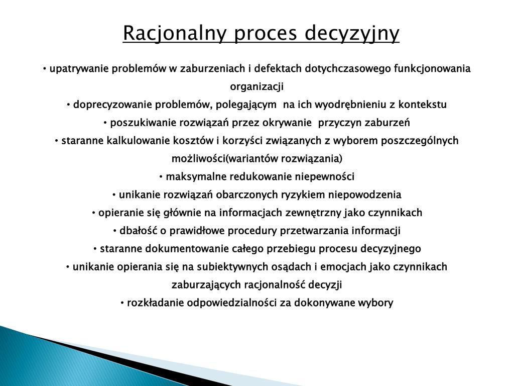 Racjonalny proces decyzyjny