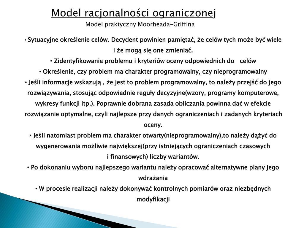 Model racjonalności ograniczone