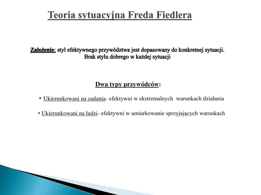 Teoria sytuacyjna Freda Fiedlera