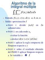 algoritmo de la integral m ltiple