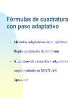 f rmulas de cuadratura con paso adaptativo