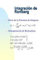 integraci n de romberg